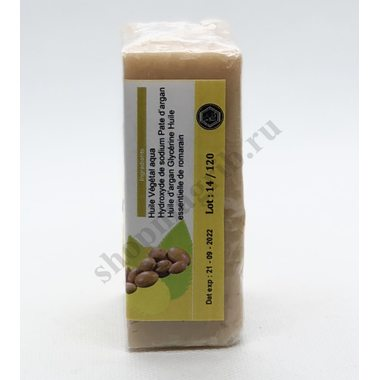 Купить Марокканское мыло с аргановым маслом,очищает поры, отшелушивает кожу.Мыло на растительной основе/Savon a pate d'argan100гр