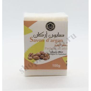 Купить Марокканское мыло с аргановым маслом,душистый персик/Savon d'argan parfume au peche 100гр