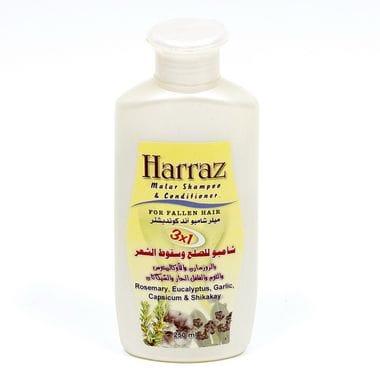 Купить Шампунь-кондиционер Harraz с розмарином, листьев эвкалипта, чесноком и шикакай, 250 мл Египет