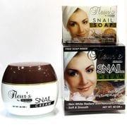 Крем для лица Улитка,омолаживающий Hemani Fleurs Snail cream с улиткой 80 gm