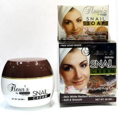 Купить Крем для лица Улитка,омолаживающий Hemani Fleurs Snail cream с улиткой 80 gm
